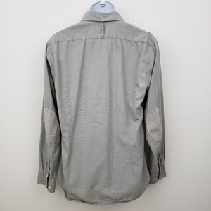 Express Fitted Gray Button Up Shirt Men's Large